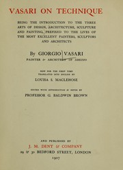 Cover of: Vasari on technique