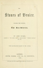 Cover of: The stones of Venice. | John Ruskin