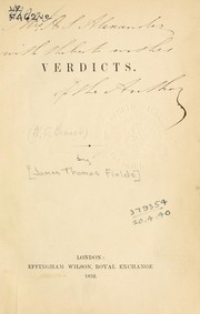 Cover of: Verdicts