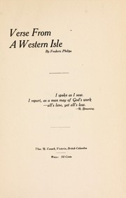 Cover of: Verse from a western isle