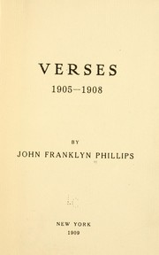 Cover of: Verses 1905-1908