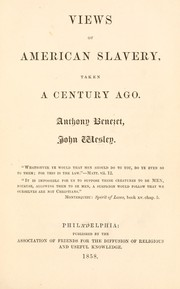 Cover of: Views of American slavery taken a century ago