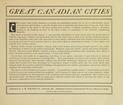Cover of: Views of Canadian cities ... |