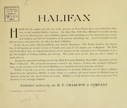 Cover of: Views of Halifax and vicinity |