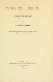 Cover of: Vincenzo Bellini: biografia ed aneddoti