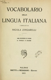 Cover of: Vocabolario della lingua italiana