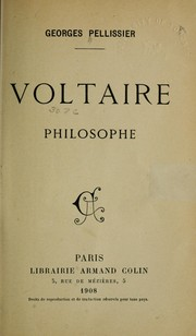 Cover of: Voltaire, philosophe