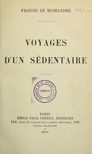 Cover of: Voyages d'un sédentaire