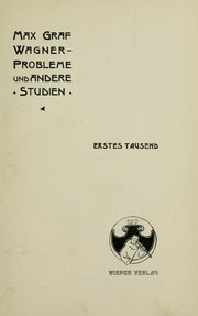 Cover of: Wagner-Probleme, und andere Studien