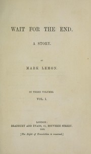 Cover of: Wait for the end