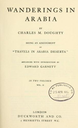 Wanderings in Arabia