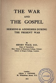 Cover of: The war and the gospel
