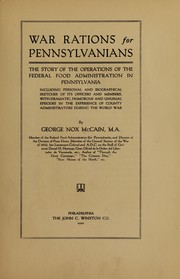 Cover of: War rations for Pennsylvanians | McCain, George Nox
