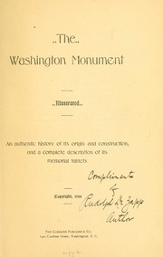 Cover of: The Washington monument... | Rudolph De Zapp