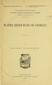Cover of: Water resources of Georgia