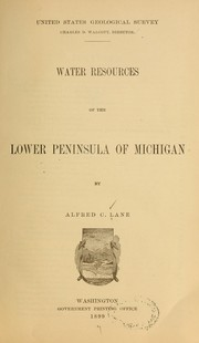 Cover of: Water resources of the Lower peninsula of Michigan