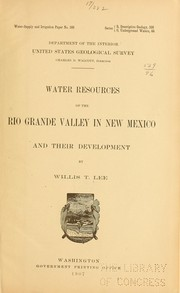 Cover of: Water resources of the Rio Grande Valley in New Mexico and their development