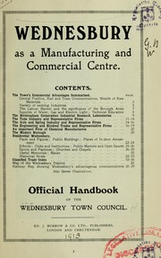 Cover of: Wednesbury as a manufacturing and commercial centre | Wednesbury Town Council