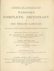 Cover of: Webster's complete dictionary of the English language