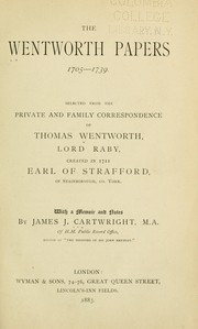 Cover of: The Wentworth Papers | Thomas Wentworth