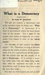 Cover of: What is a democracy