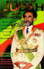 Cover of: The Lion of Judah Hath Prevailed