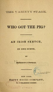 Cover of: Who got the pig?