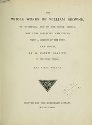 Cover of: Whole works | Browne, William