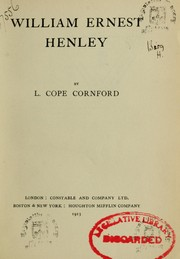 Cover of: William Ernest Henley