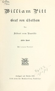 Cover of: William Pitt, Graf von Chatham