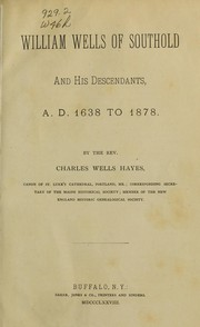Cover of: William Wells of Southold and his descendants | Charles Wells Hayes