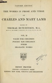 Cover of: The works in prose and verse of Charles and Mary Lamb | Charles Lamb