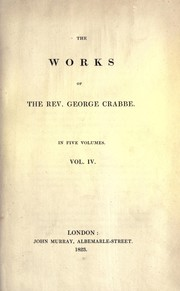 Cover of: Works of George Crabbe | Crabb, George