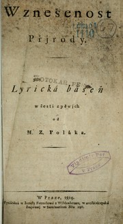 Cover of: Wznešenost přjrody