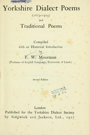 Cover of: Yorkshire dialect poems (1673-1915) and traditional poems
