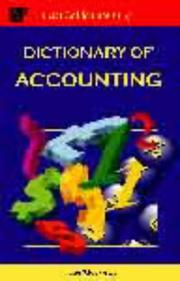 Cover of: Dictionary of Accounting