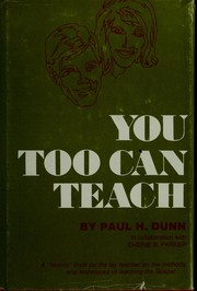 Cover of: You too can teach