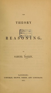 Cover of: The theory of reasoning
