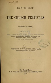 Cover of: How to find the church festivals without tables
