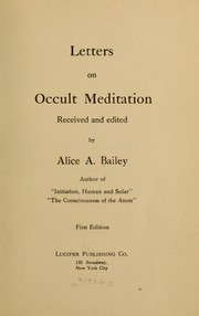 Cover of: Letters on occult meditation