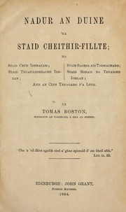Cover of: Nadur an duine 'na staid cheithir-fillte ...