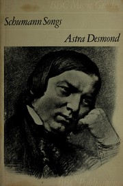 Cover of: Schumann songs. | Astra Desmond