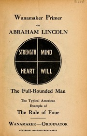 Cover of: Wanamaker primer on Abraham Lincoln