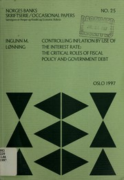 Cover of: Controlling inflation by use of the interest rate