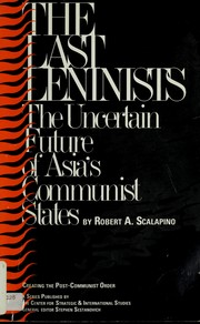 Cover of: The last Leninists: the uncertain future of Asia's communist states