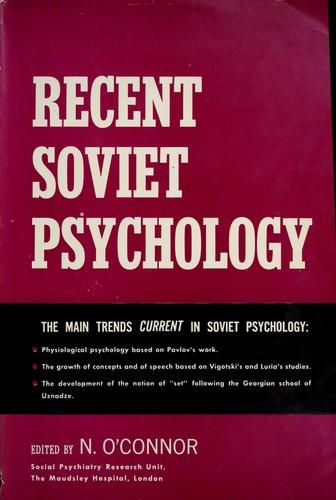 Recent Soviet psychology.