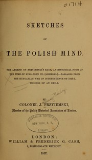 Cover of: Sketches of the Polish mind. | Juliusz Rawicz Przyjemski