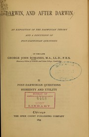 Cover of: Darwin and after Darwin