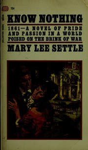 Cover of: Know nothing | Mary Lee Settle