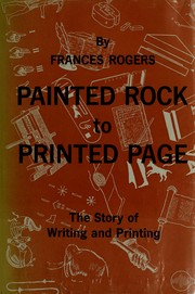 Cover of: Painted rock to printed page